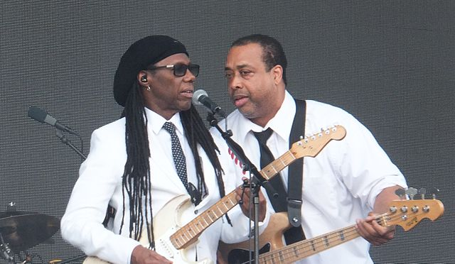 [Rodgers performing with Chic at the Flow Festival in Helsinki, 2015 (Image: Wikimedia)]