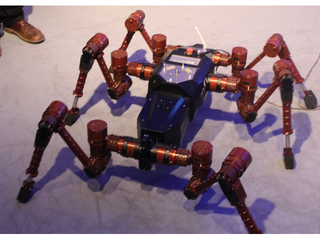 Artificial Intelligence and robotics are hot in the German tech scene, as evidenced by this arthropodic bot.
