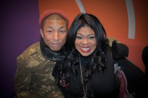 Candid photo of Pharrell Williams and Kim Burrell. Courtesy @KimBurrellLove on Twitter