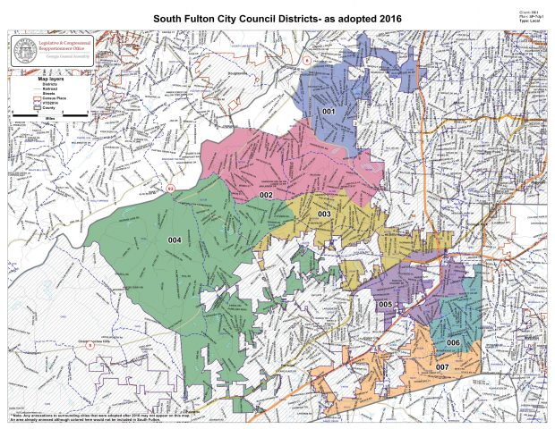 Map of the City of South Fulton