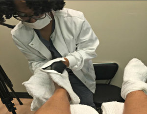 Letisha Royster, the founder of the Waterless Medi-Pedi & Nail Spa,