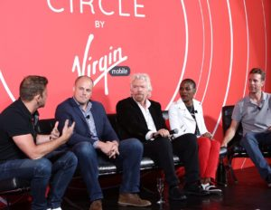 Chase Jarvis, Bo Ghirardelli, Sir Richard Branson, Luvvie Ajayi, Jamie Siminoff (Image: Facebook/Virgin Mobile USA)