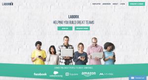 Landing Page (Image: LaborX)