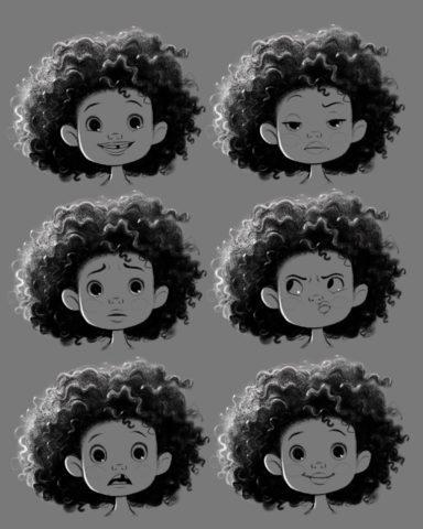 2-D Hair Love Main Character Zuri (Image: VashtiHarrison)