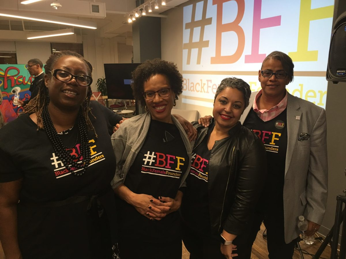 #BFF Co-founders (l-r): Sibyl Edwards, Xina Eiland, Erin Horne McKinney, and Melissa Bradley (photo: Brandon Luong)