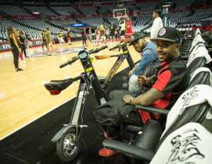Ray J and business partner, Billy Jones with Scoot-E-Bike at the Staples Center (Image: File)