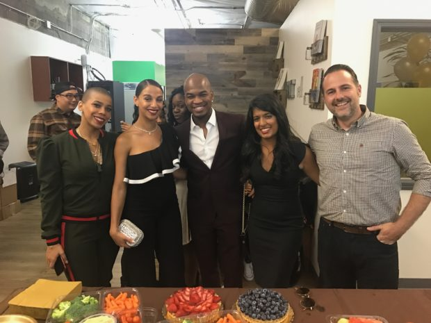 Holly Watt, Crystal's Su Chef, Crystal Renay Smith, Ne-Yo, Founder of Gobble, Ooshma Garg, Chris Woodford, Head of Engineering (Image: Gobble)