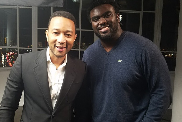 John Legend and Marcus Bullock, Founder and CEO of Flikshop (Photo: courtesy of Unlocked Futures)
