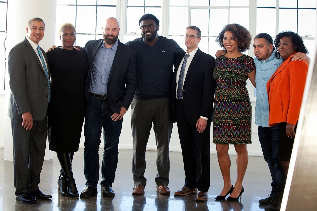 Left to right: James Monteiro, Topeka K. Sam, Jason Cleaveland, Marcus Bullock, Dirk Van Velzen, Amanda Alexander, Will Avila, and Teresa Hodge (Photo: courtesy of Unlocked Futures)
