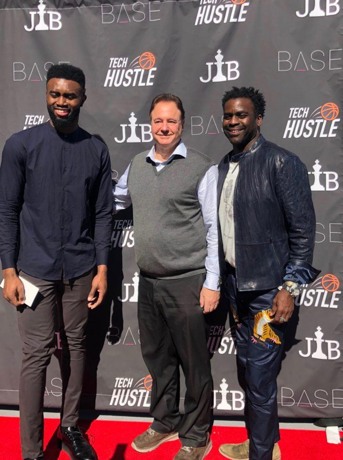 Jaylen Brown, Boston Celtics, Stephen Pagliuca, Co-Owner of the Celtics and Chairman of Bain Capital, Erik Moore (Image: Base Ventures)