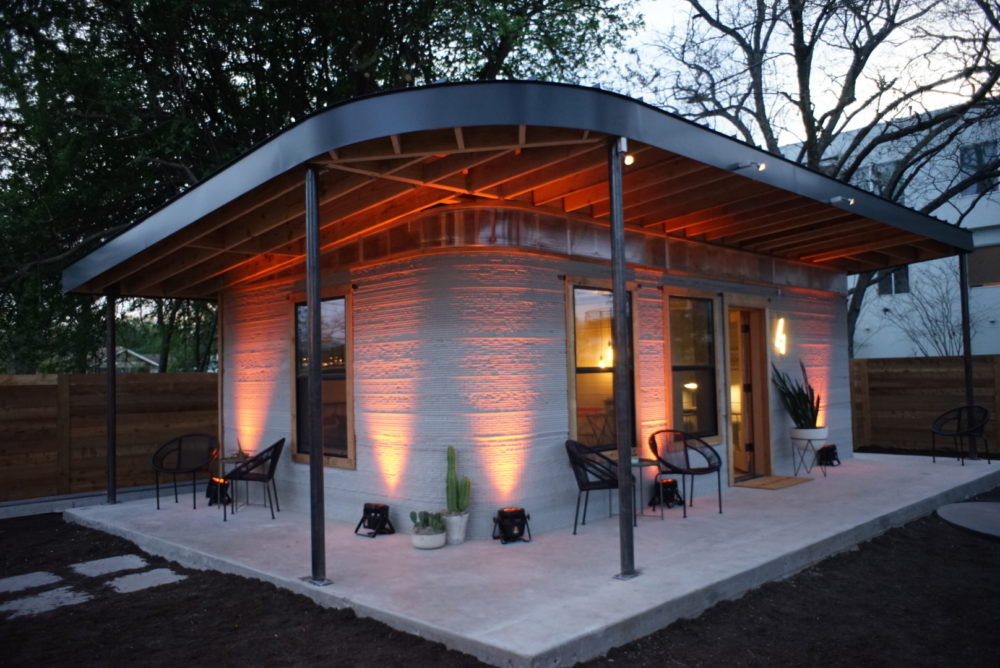 3-D Printed Home (Image: New Story and Icon)