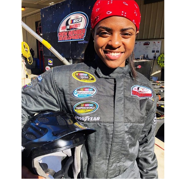 black in nascar  meet the first black woman pit crew member