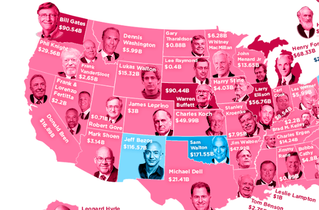 The Richest People of All Time From Every State [Infographic]