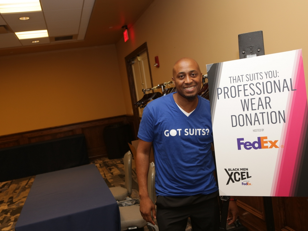 Black Men Xcel Recap Day 1 Event Check-in That Suits You (sponsored by FedEx)