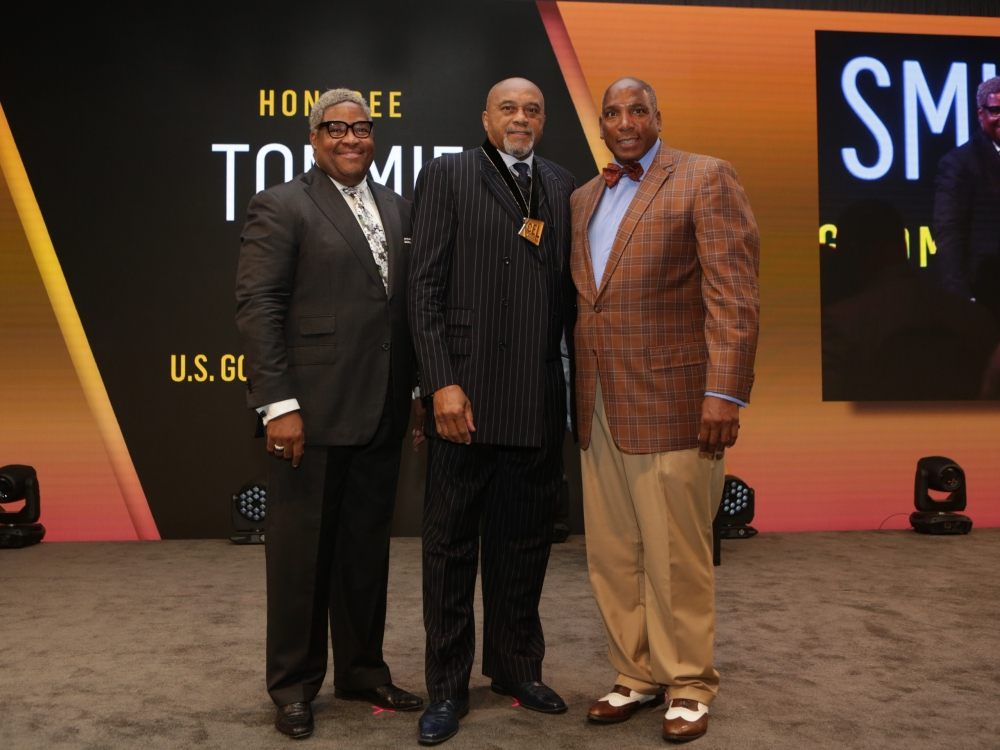 "Black Men Xcel Recap Day 1 Walmart's Tony A. Waller, Tommie Smith , and Earl ""Butch"" Graves Jr."