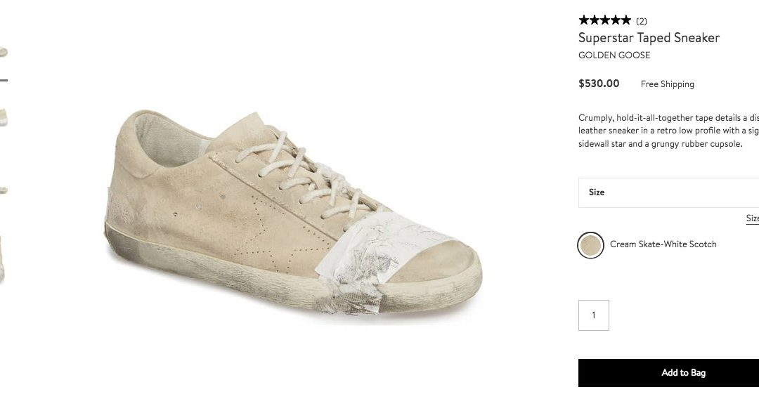 9c13db88c4b3 Twitter Sounds Off On High-Fashion Homeless-Looking Sneakers - Black ...