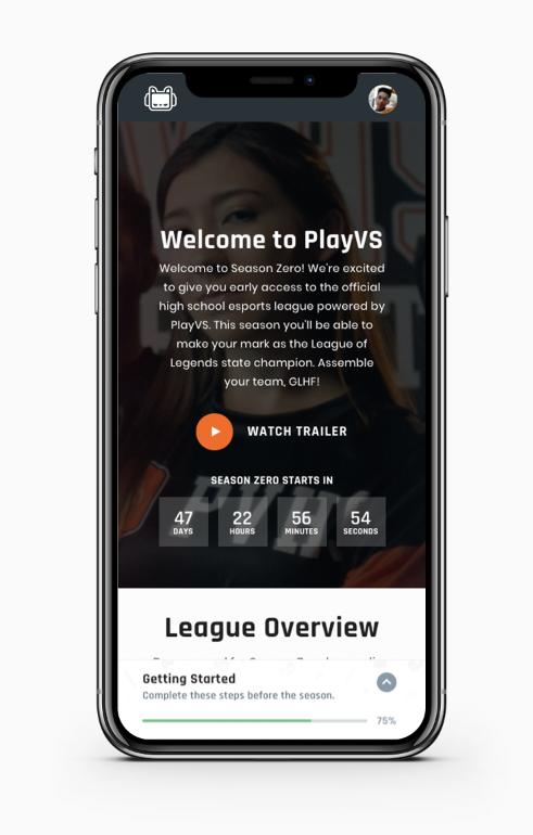 User Interface (Image: PlayVS)