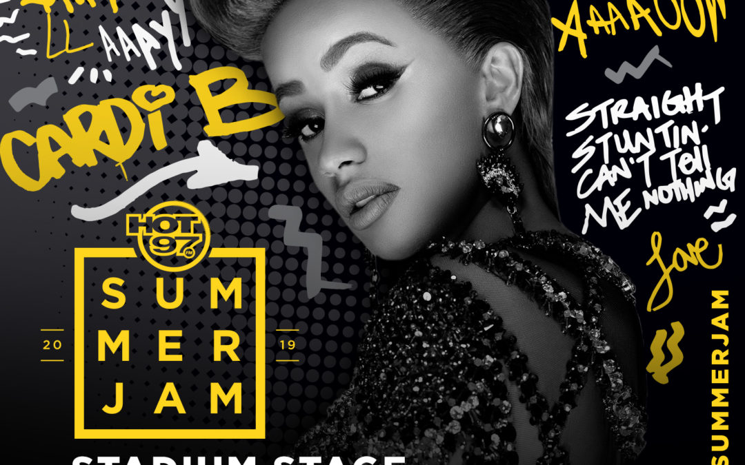 Cardi B. Performs at HOT 97's Sold-Out Summer Jam